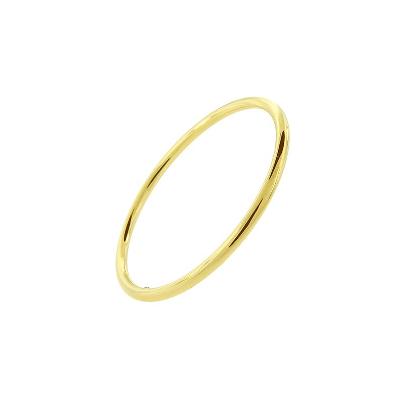 Pulseira de Ouro Amarelo 18K Bracelete Algema Lisa