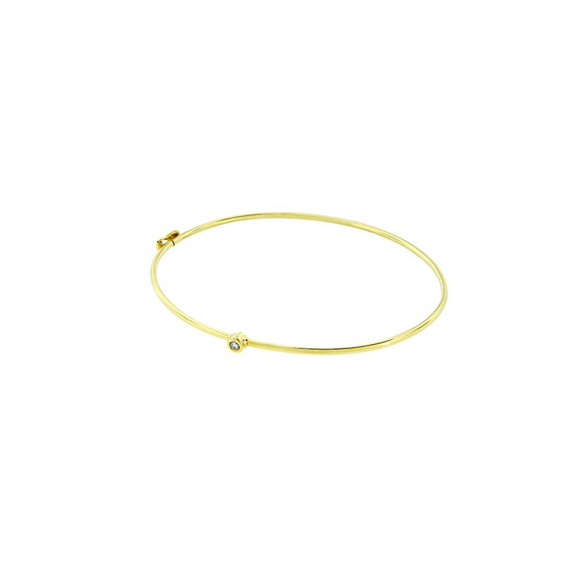 Pulseira de Ouro Amarelo 18K Bracelete com Diamante