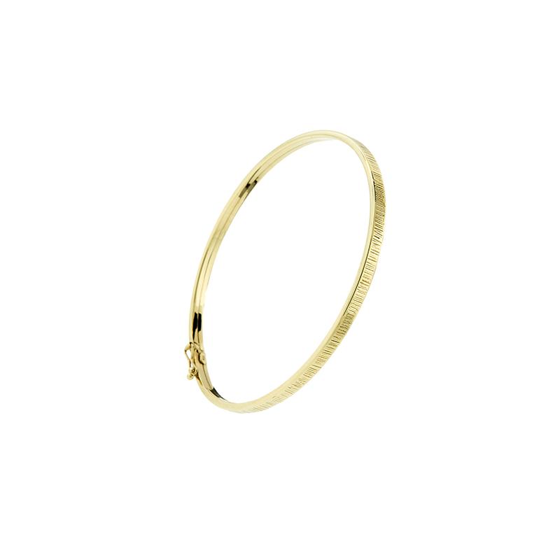 Pulseira de Ouro Amarelo 18k Bracelete com textura