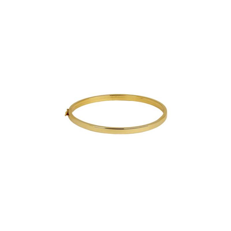 Pulseira de Ouro Amarelo 18K Bracelete Quadrado
