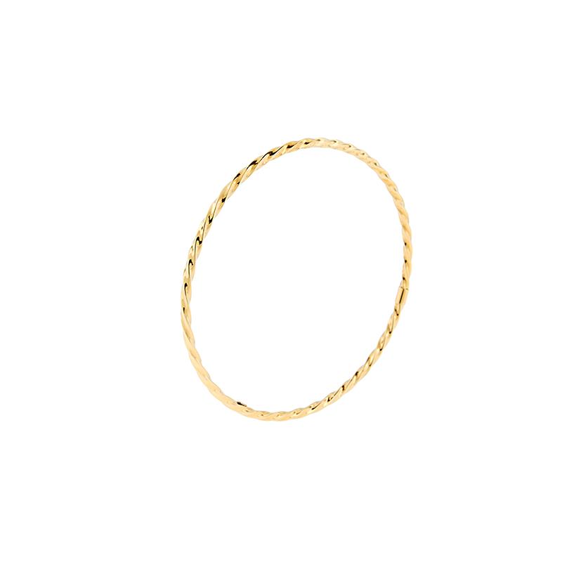 Pulseira de Ouro Amarelo 18k Bracelete Torcido