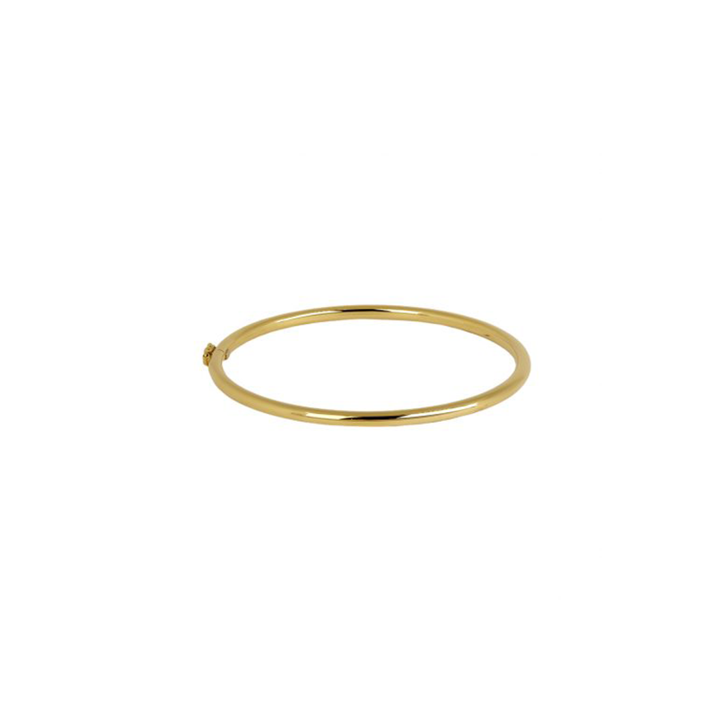 Pulseira de Ouro Amarelo 18K Bracelete Tubular