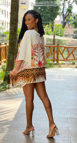 Conjunto de kimono maia