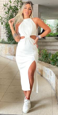 Vestido canelado lady