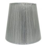 Cupula para Lustre em Fio de Seda Prata 2276