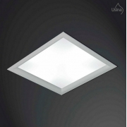 Embutido Quadrado Orion Branco 2xe27 Usina Design 3500/25