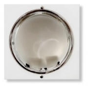Embutido Teto Quadrado Branco 2xe27 Biv Metal Técnica Mf108