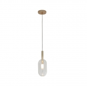 PENDENTE HEVVY GOLD SL-0528/H1 CLEAR