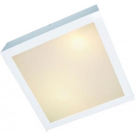 Plaflon Quadrado Branco 2xe27 Biv Femarte 1330