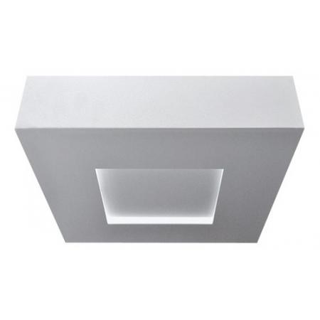 Plafon Quadrado Branco 4xe27 Piuluce 5109/a