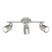 Spot Trilho Alumínio Spotline 418/3 Escovado