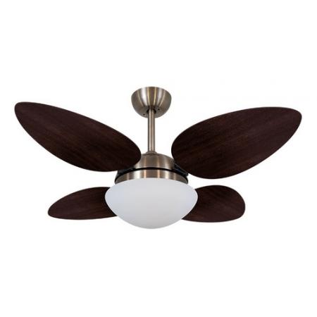 Ventilador Volare Bronze Vr42 Petalo Tabaco 127v 63618