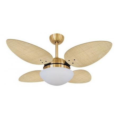 Ventilador Volare Dourado Vr42 Petalo Palmae Nat 127v 60041