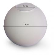 Vidro Esfera Fosca Vitroluz 15CM