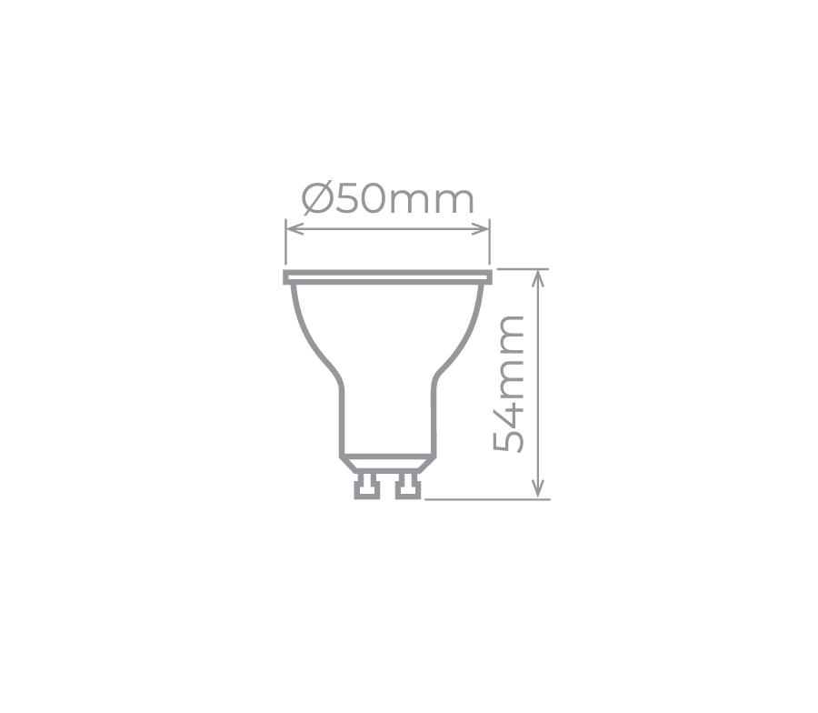 LAMPADA LED DICROICA GU10 6W 2700K STELLA STH8535/27