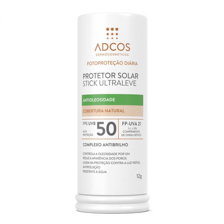 ADCOS PROTETOR SOLAR STICK ULTRALEVE NUDE FPS 50 12g