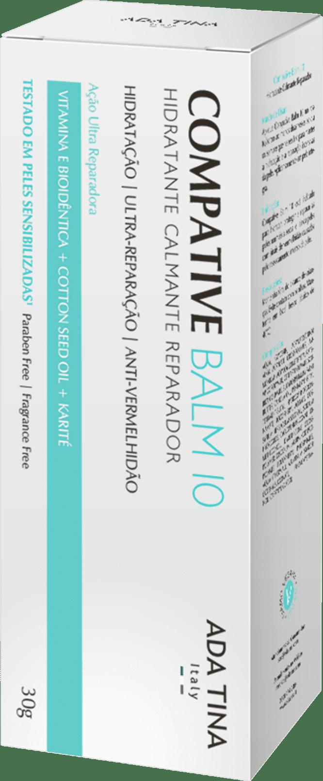 Compative Balm 10 Creme Hidratante Facial e Antissinais 30g ADA TINA