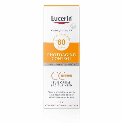 EUCERIN SUN TINTED CC CREAM MÉDIO FPS60 COM 50ML
