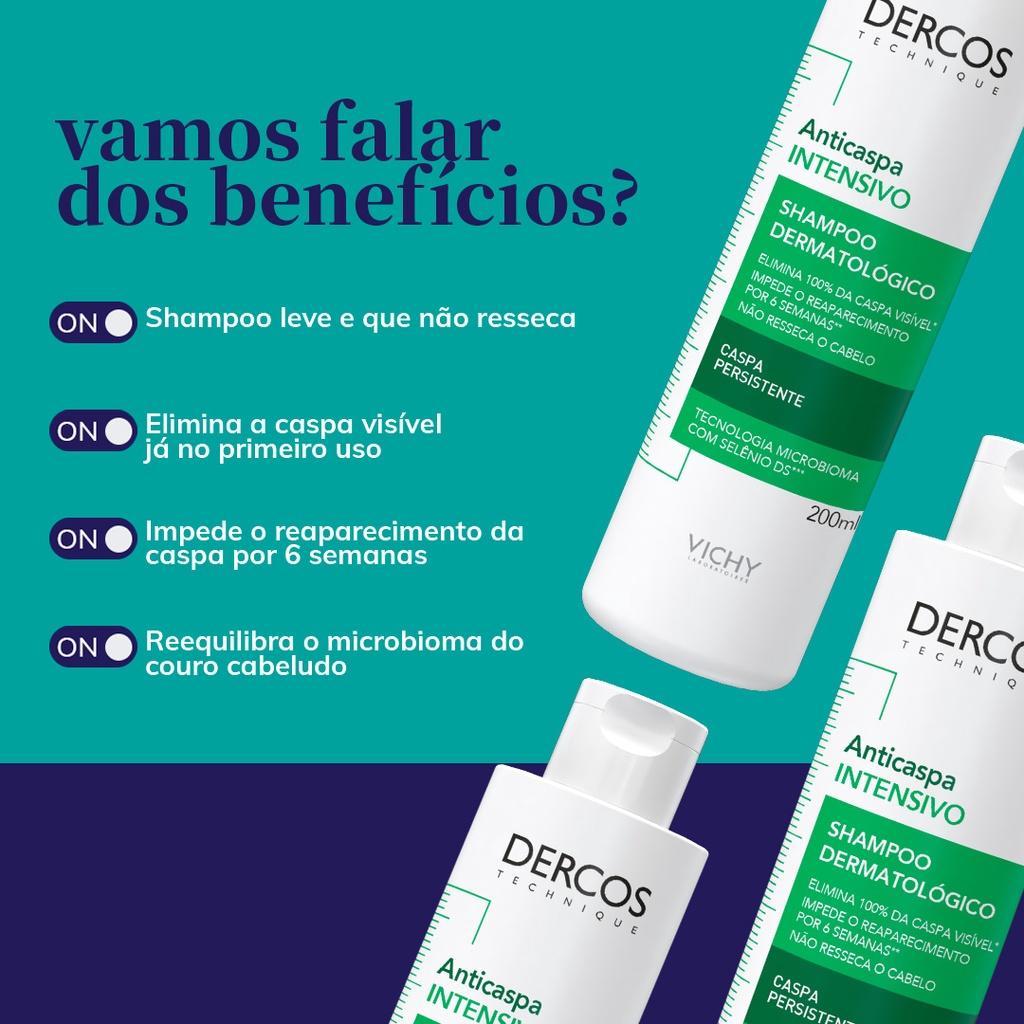 DERCOS SHAMPOO ANTICASPA INTENSO 200ml - Vichy