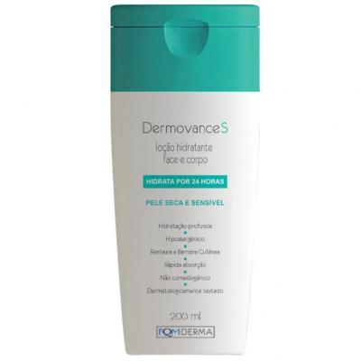 DermovanceS Pele Seca e Sensível  Loção Hidratante Face e Corpo com 200ml