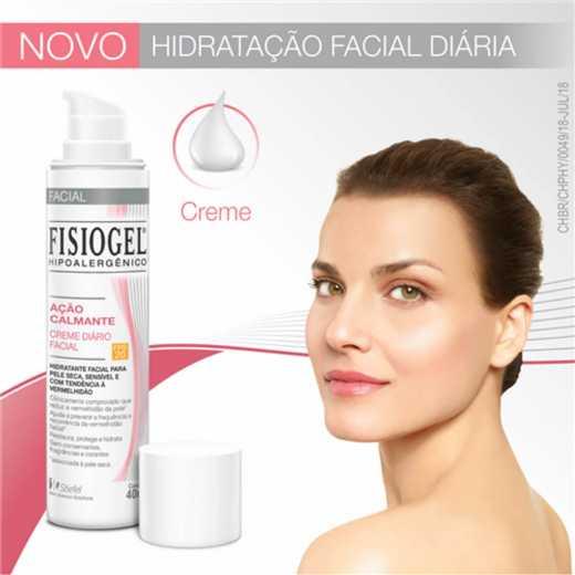 Fisiogel AI Creme facial diário ação calmante FPS 20- 40ml