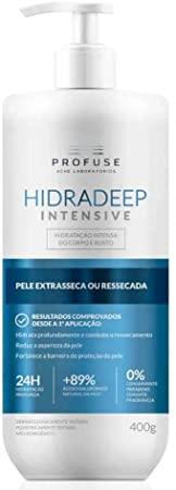 Hidradeep Intense 400ml - Hidratação corporal e rosto intensa para peles secas e mais secas - Profuse