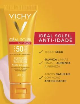 Ideal Soleil FPS 50 anti-idade - Vichy sem cor