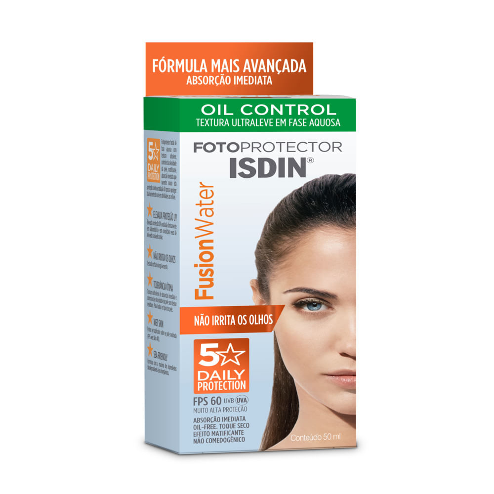 ISDIN FUSION WATER OIL CONTROL FPS60 5 STAR COM 50ML