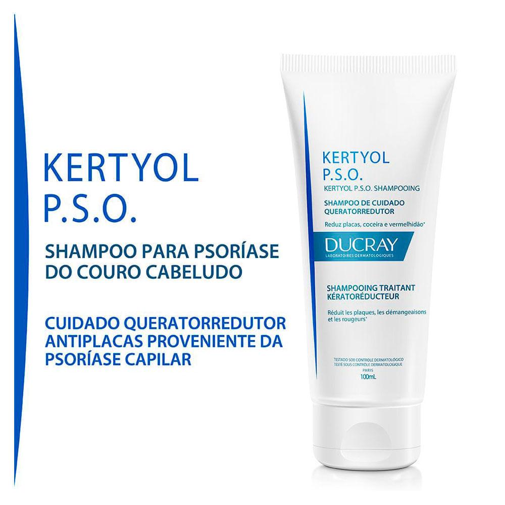 KERTYOL P.S.O. SHAMPOO PARA PSORÍASE DO COURO CABELUDO 100ml - Ducray