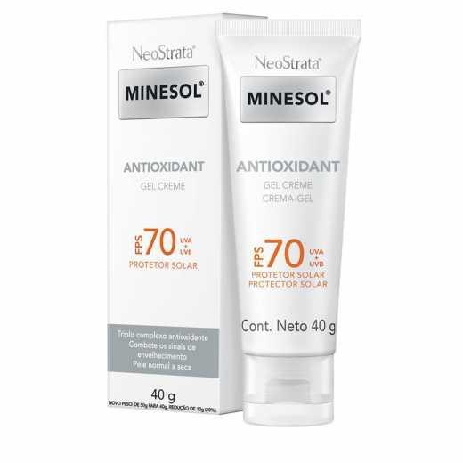 MINESOL ANTIOXIDANT GEL CREME FPS70 40g - Neostrata