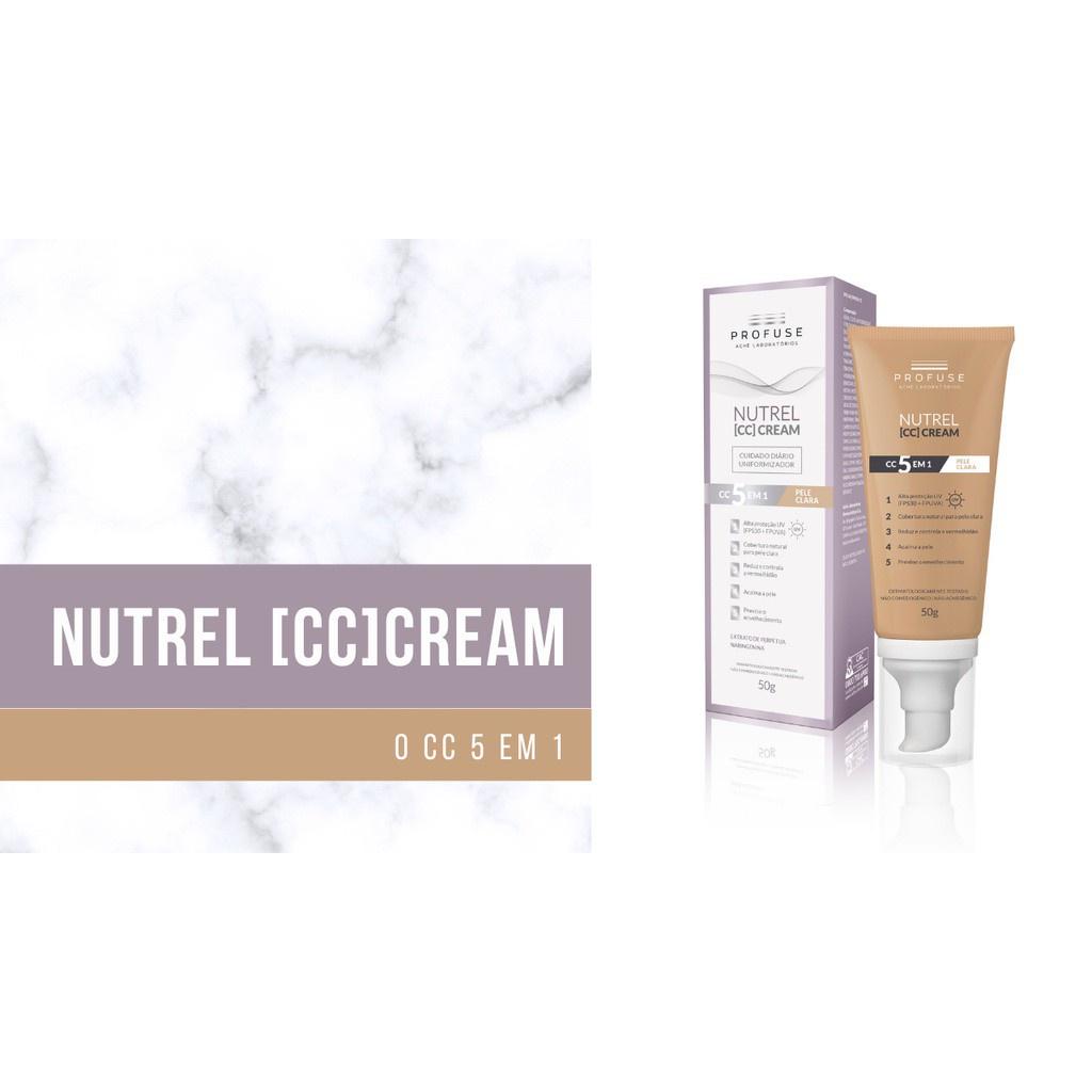 Nutrel CC Cream 5 em 1 cor clara 50g PROFUSE