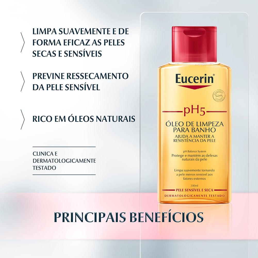 PH5 ÓLEO DE LIMPEZA PARA BANHO 200ml - Eucerin