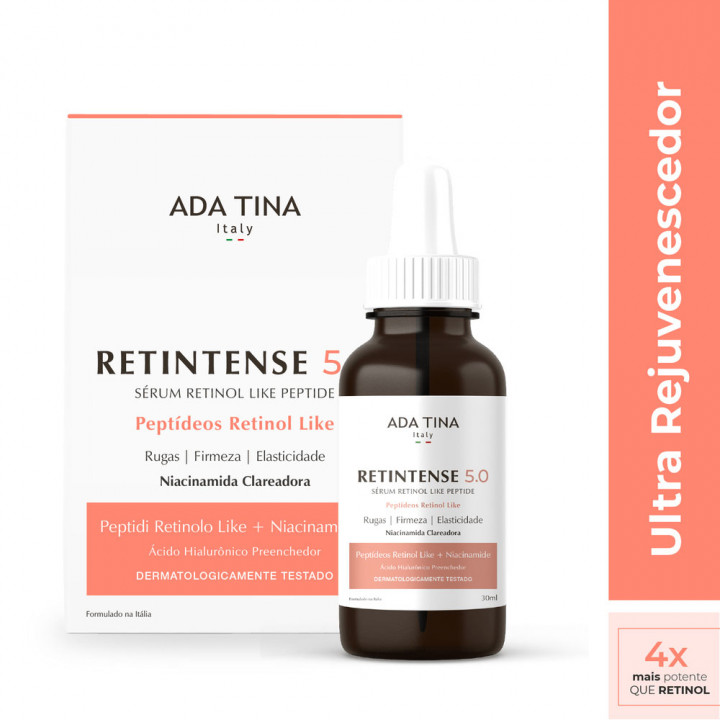 Retinol Peptide - Ada Tina renovador facial - Retintense 5,0 com 30ml