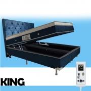 Cama Box Baú + Colchão Magnético Super King Massageador Energia Bio Quântica