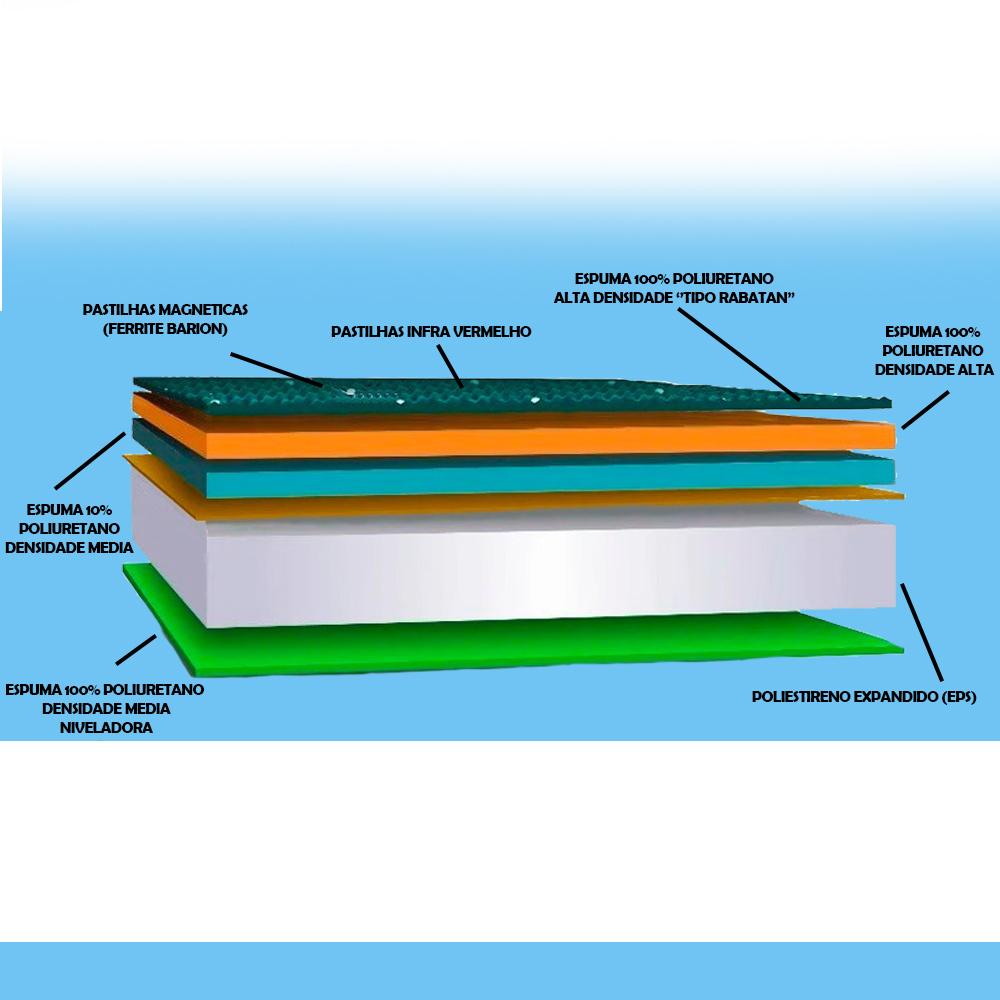 Cama Box Baú + Colchão Magnético Elegancy Massageador Bio quântico com 40 Tipos de Massagens