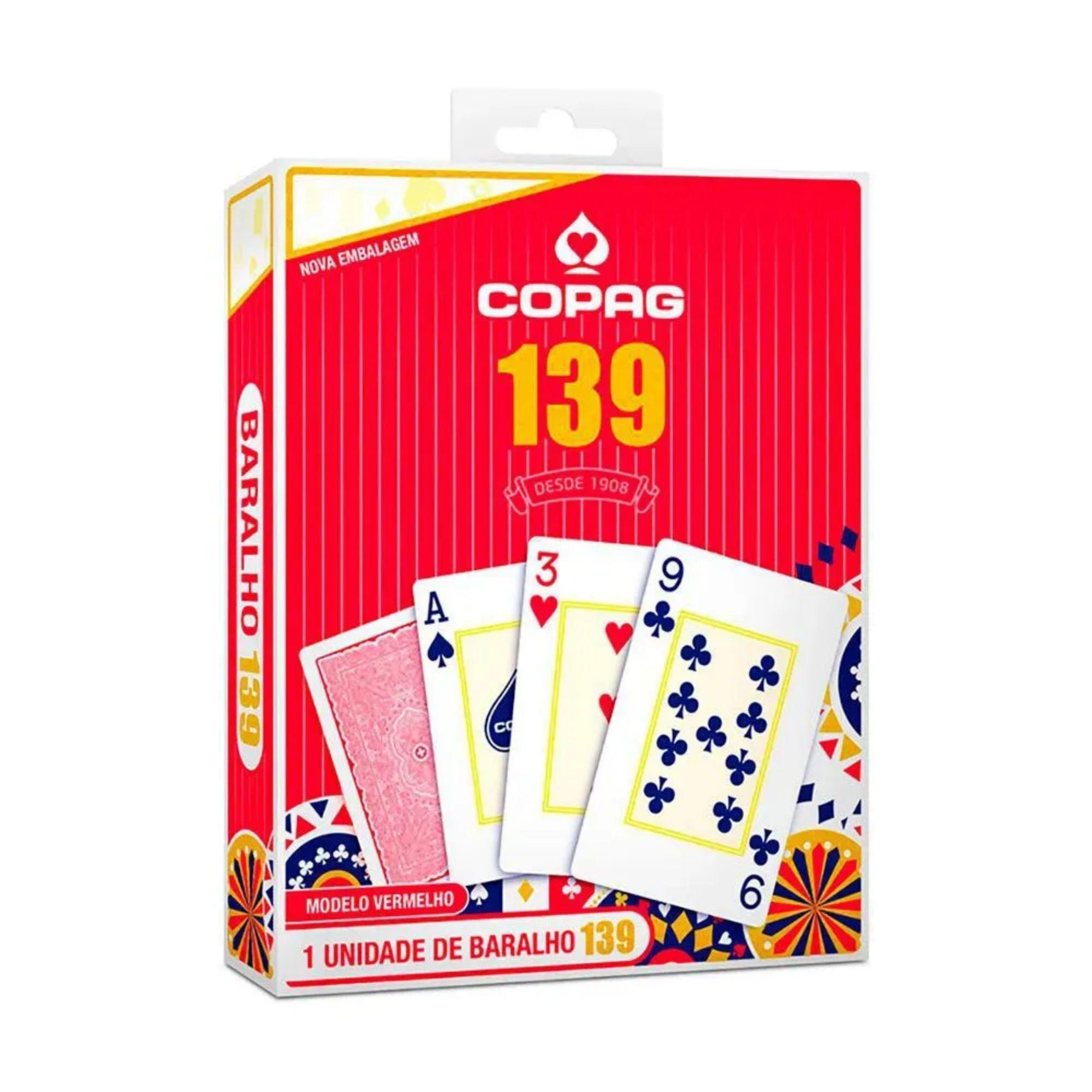 Baralho Copag 139 - 54 Cartas - Naipe Grande - Modelo Vermelho (98481)