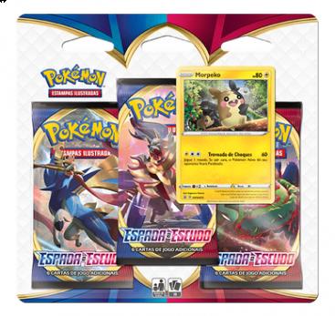 Blister Triple Pack Booster Morpeko - Espada e Escudo - Pokémon