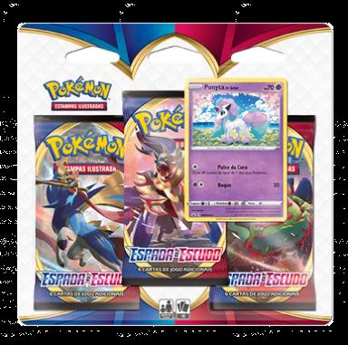 Blister Triple Pack Booster Ponyta - Espada e Escudo - Pokémon