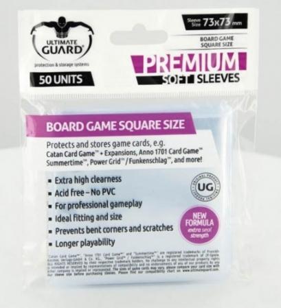 Board Game Square Size 73mm x 73mm - 50 unid - Ultimate Guard