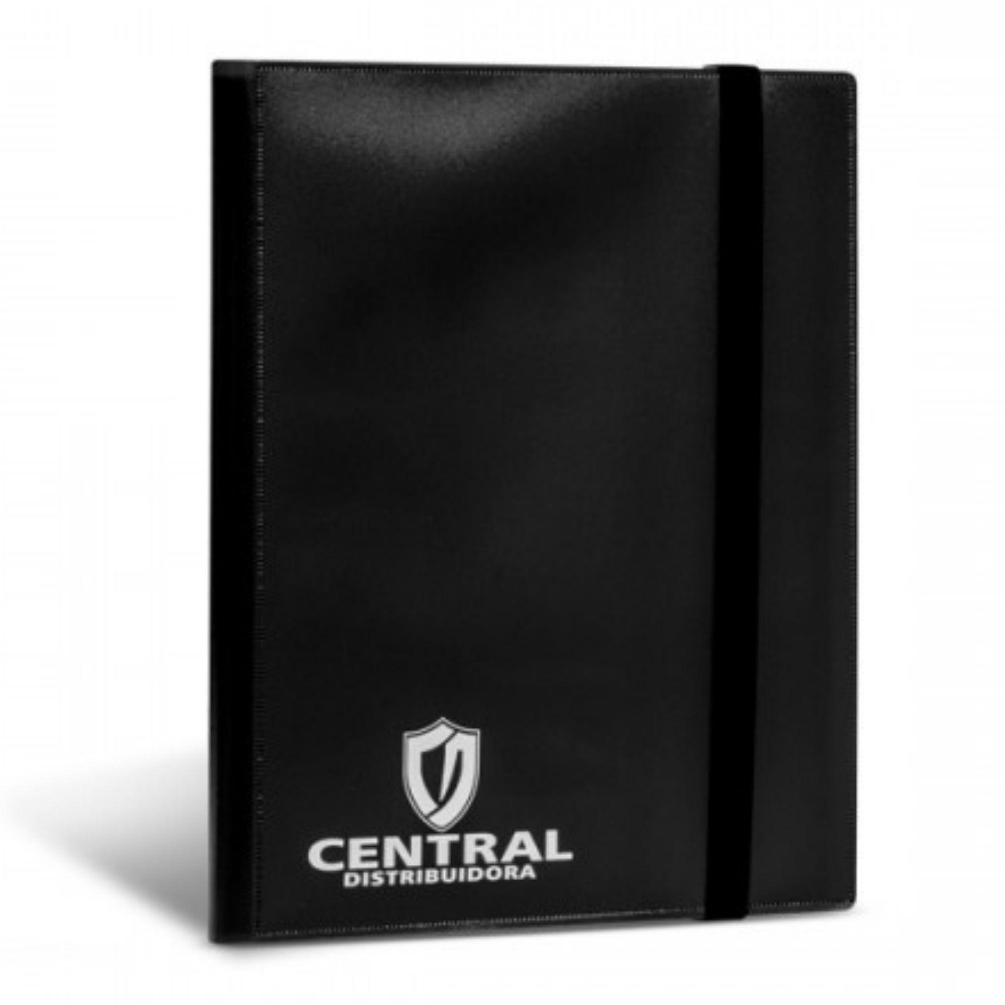Central Album 3x3 Preto Fichário 9 bolsos