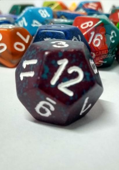 Dado 12 faces (Unidade) - D12 - Sortido