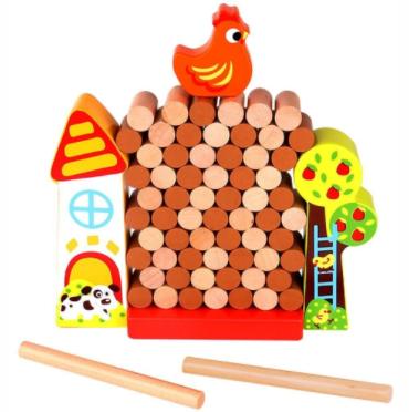 Jenga da Galinha - Tooky Toy