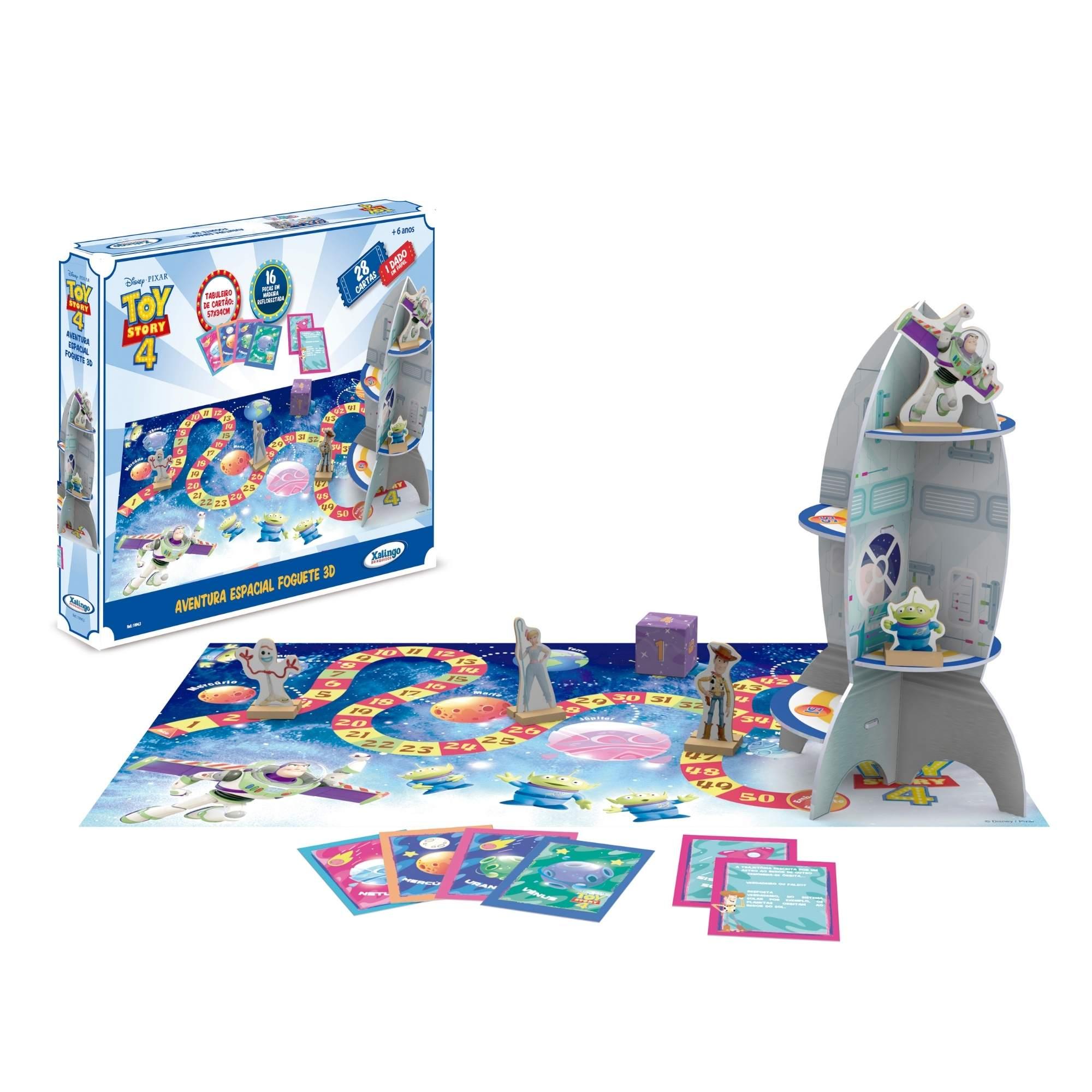 Jogo Aventura Espacial Foguete 3 D Toy Story