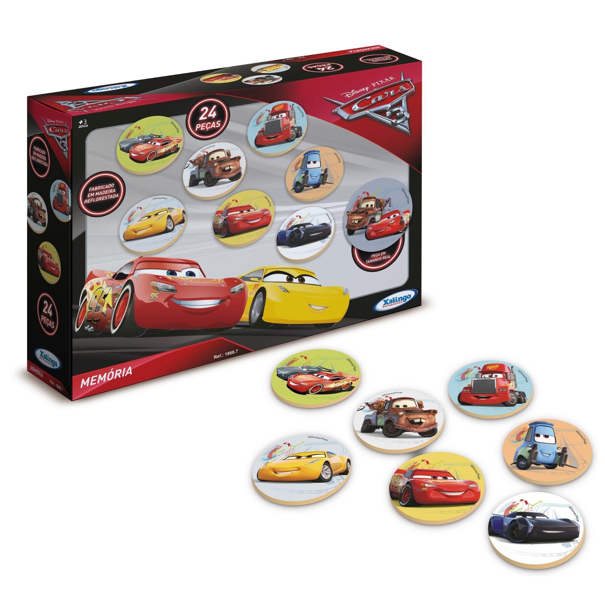 Jogo da Memória Carros 3 Disney