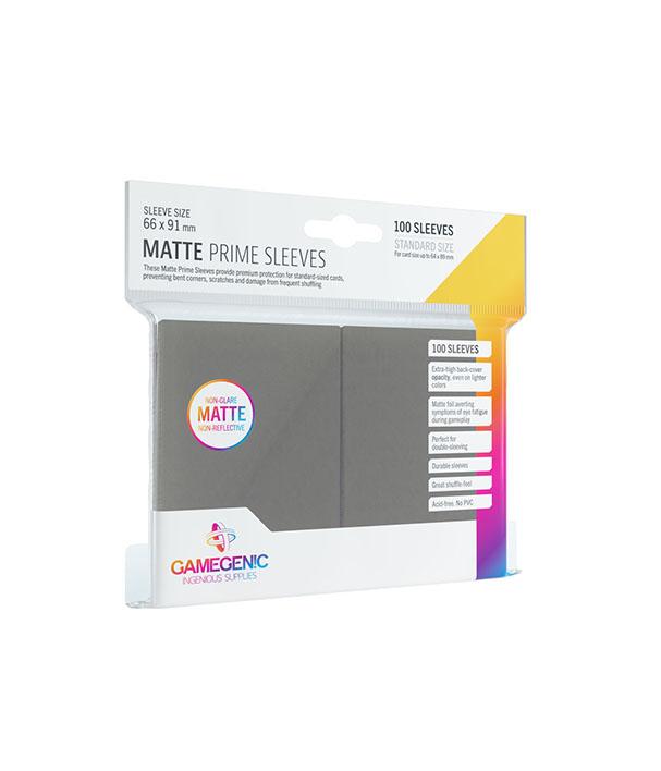 Matte Prime Sleeve Cinza Escuro - 100 unidades - 64 x 89mm - Gamegenic