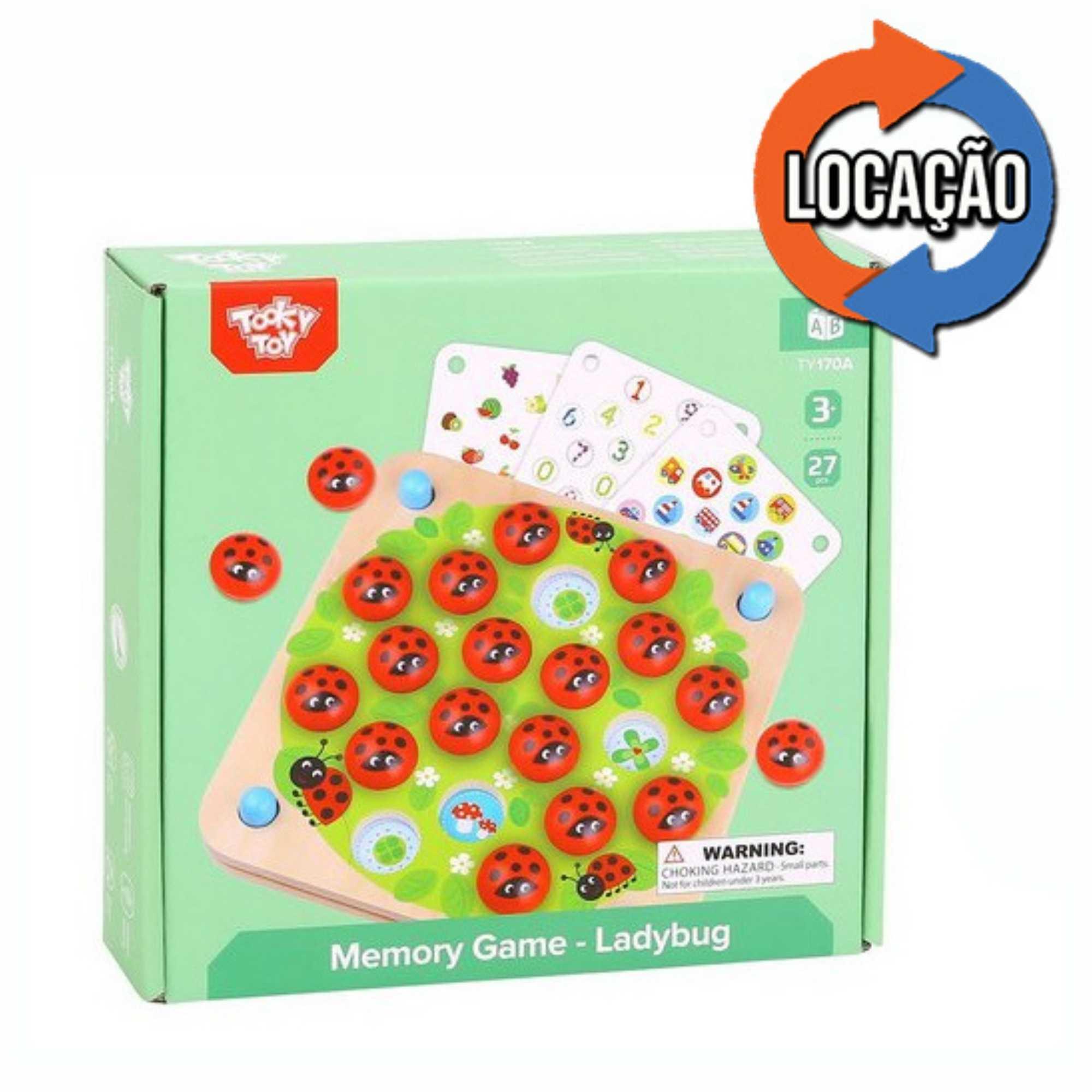 Memory Game Ladybug - Tooky Toy (Locação)