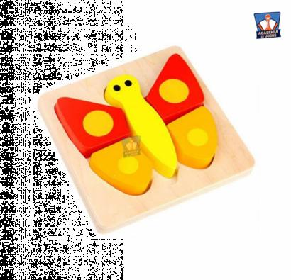 Mini Puzzle de Encaixe - Butterfly - Tooky Toy