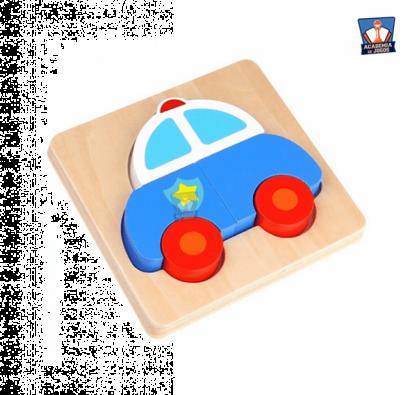 Mini Puzzle de Encaixe - Police Car - Tooky Toy