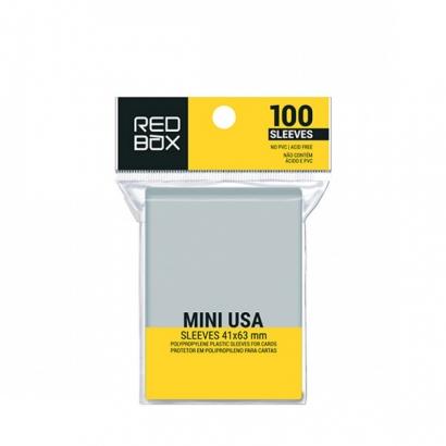 Mini USA 41mm x 63mm - 100 unid - Board Game Shield Protetor - RedBox