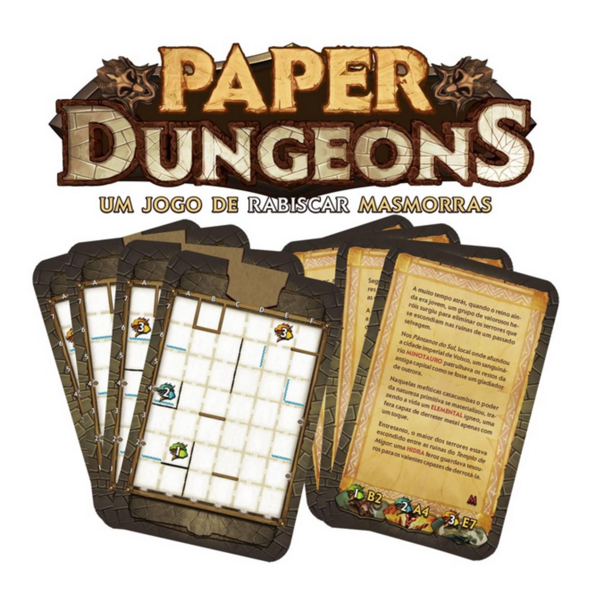 Paper Dungeons Missões Extras (Cartas Promo)